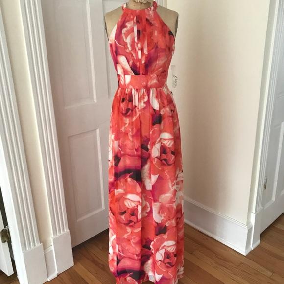 5b08c91d Eliza J Dresses | Floral Print Halter Maxi Dress | Poshmark